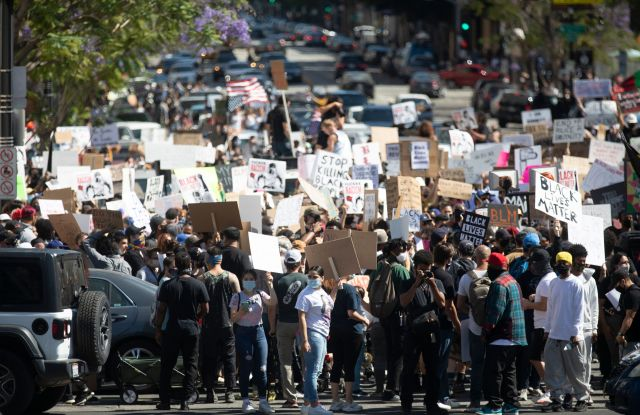 Los Angeles George Floyd Black Lives Matter Protests Hollywood