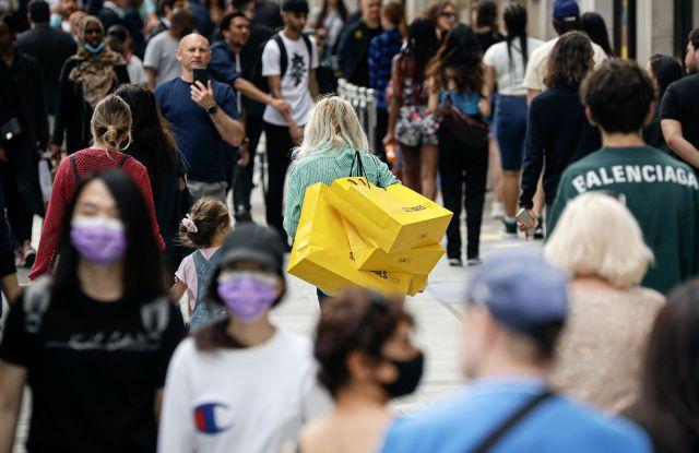 post-coronavirus lockdown shopping London Selfridge's