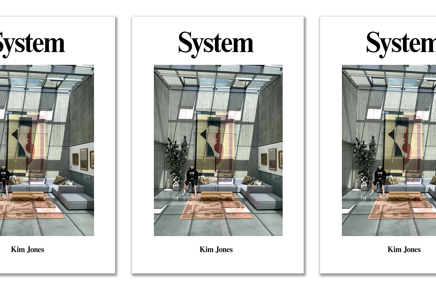 Kim Jones on the cover of System magazine.