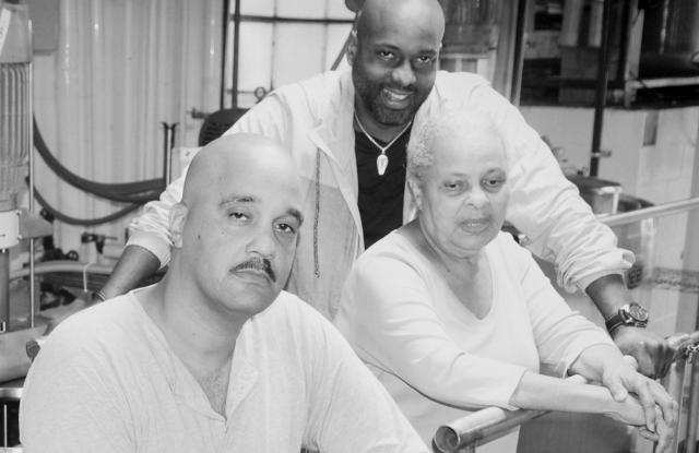 Richelieu Dennis with Sundial's co-founders Nyema Tubman and Mary Dennis.