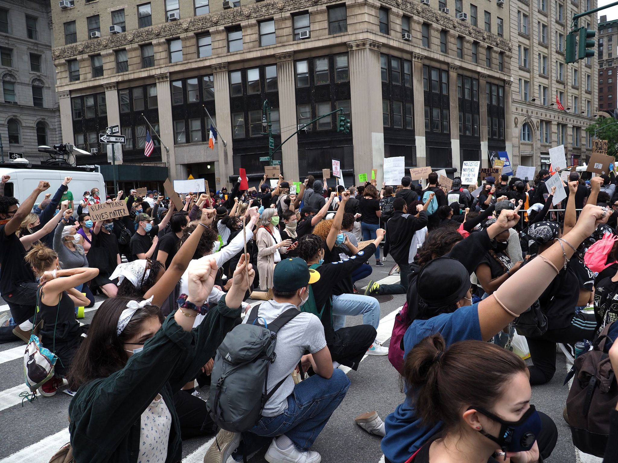 Protestors during a Black Lives Matter protest in Foley Square.