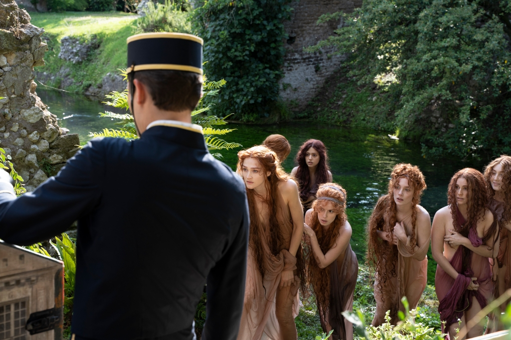 A behind-the-scenes shot of the Dior short film directed by Matteo Garrone.