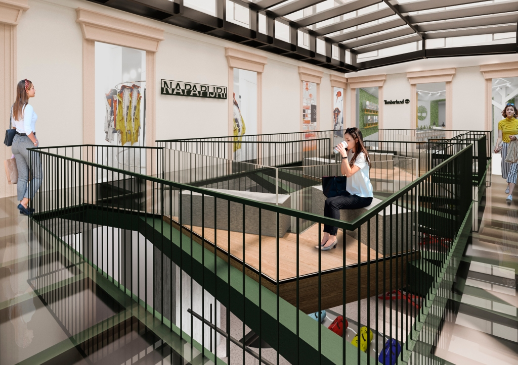 A render of the Orefici 11 multibrand store VF Corp. will open next fall in Milan.