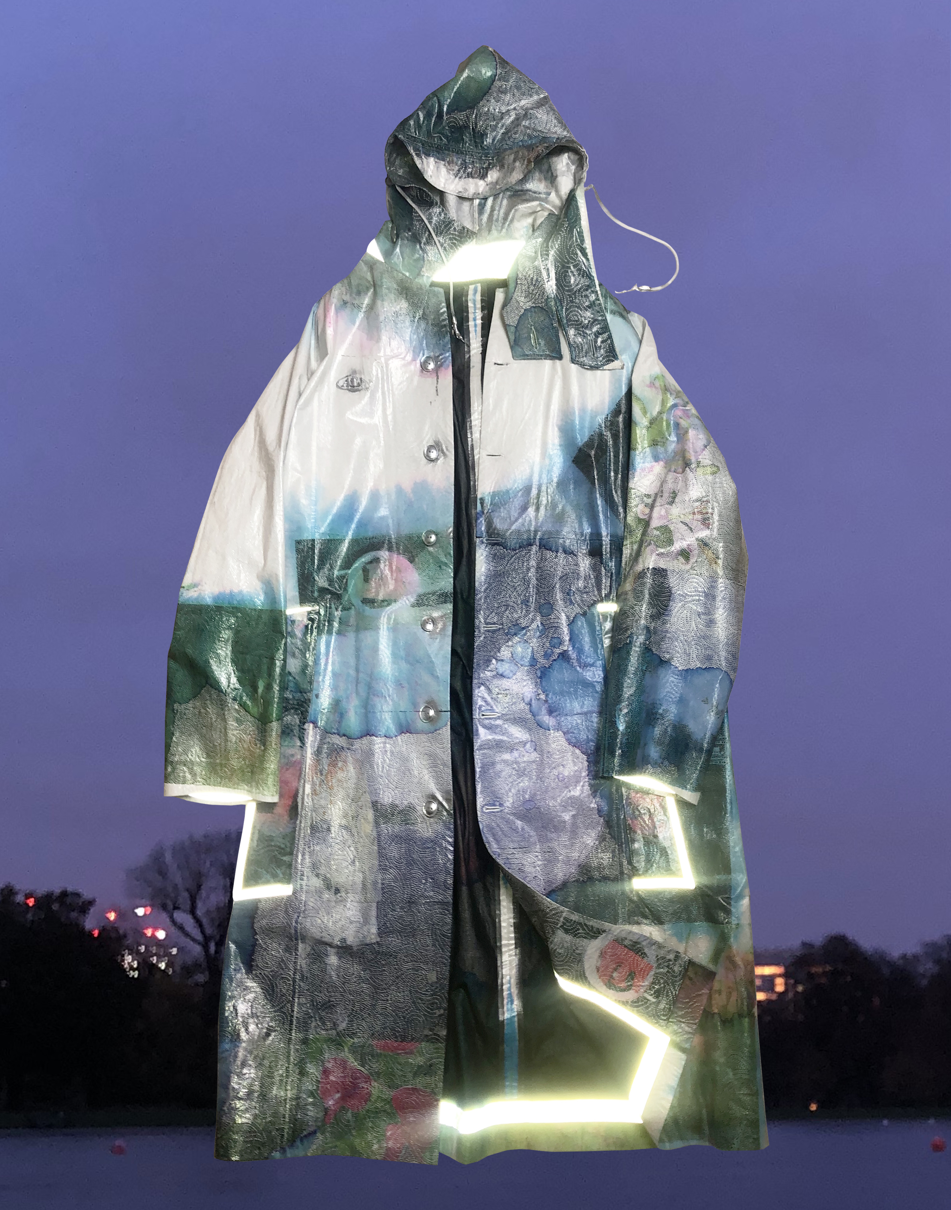 A coat made from kitchen towel by Tianan Ding.