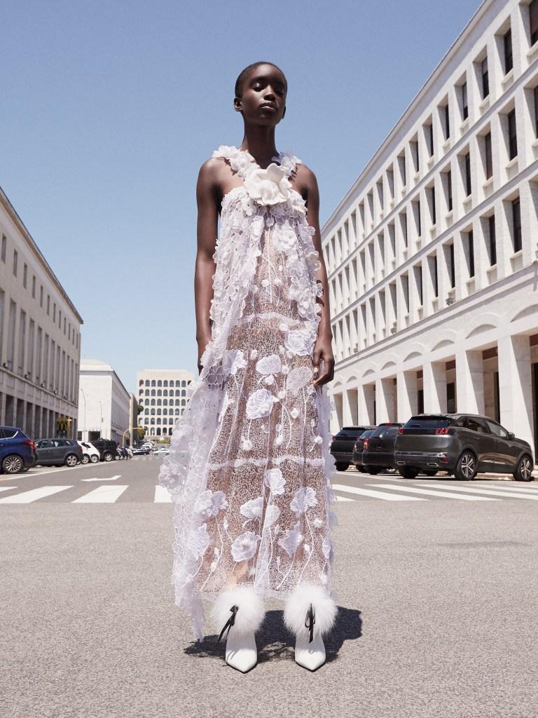 A vintage Fendi couture design.