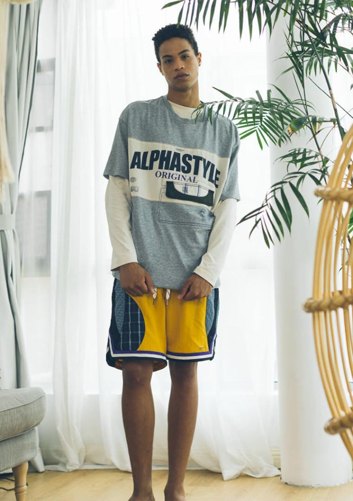 A look from Alphastyle men's spring 2021 collection.