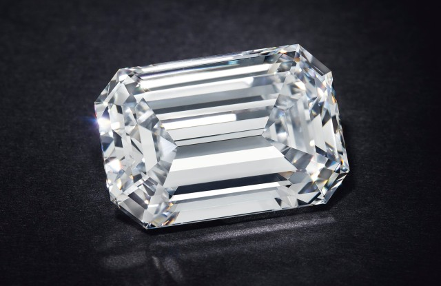 Christie's record-breaking diamond, sold online for $2.1 million.