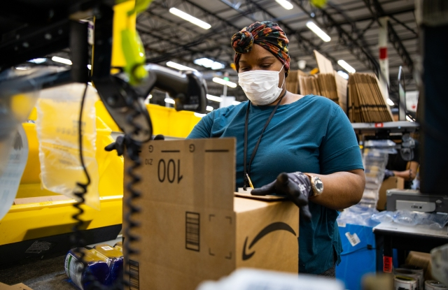 amazon worker mask