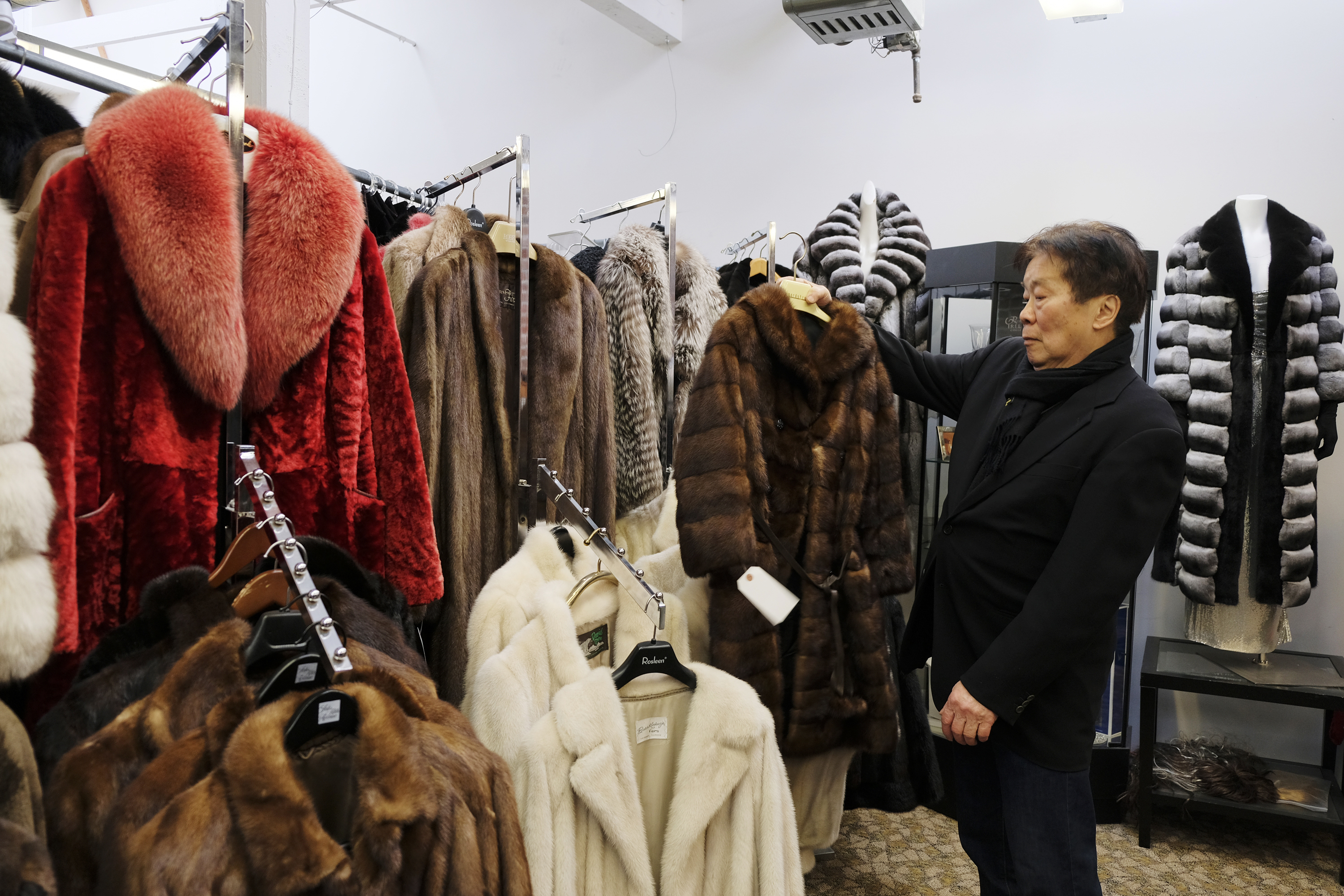 One of the only fur showrooms in San Francisco before the ban was approved in 2018.