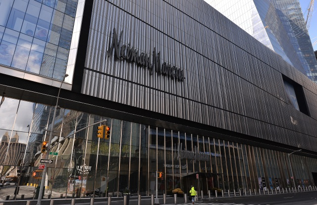 Neiman Marcus in The Shops at Hudson Yards is close to declaring bankruptcy due to the effects of the COVID-19 pandemic forcing closures across America, New York, NY May 1, 2020. (Anthony Behar/Sipa USA)(Sipa via AP Images)