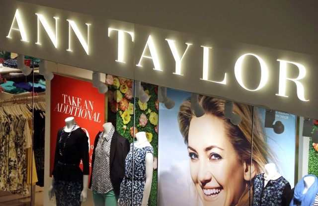 FILE - This March 5, 2013 file photo shows an Ann Taylor store in Mount Lebanon, Pa. The Ascena Retail Group is buying the owner of Ann Taylor and Loft stores in a cash-and-stock deal valued at about $2.16 billion. Ascena's brands include Lane Bryant, Dress Barn and Cacique. (AP Photo/Gene J. Puskar)