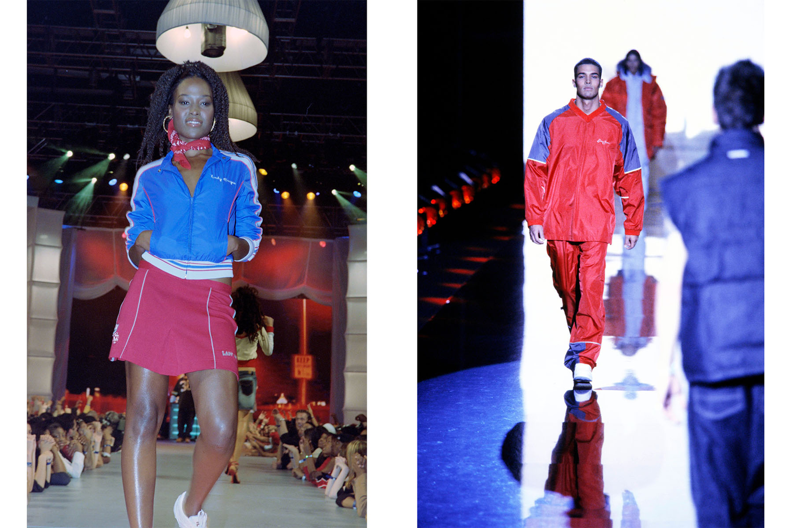 (L-R) MTV Fashionably Loud Event-Lady Enyce Urban Sportswear for Spring 2003.Sean John Menswear Fall 2000 Ready to Wear Fashion Show.