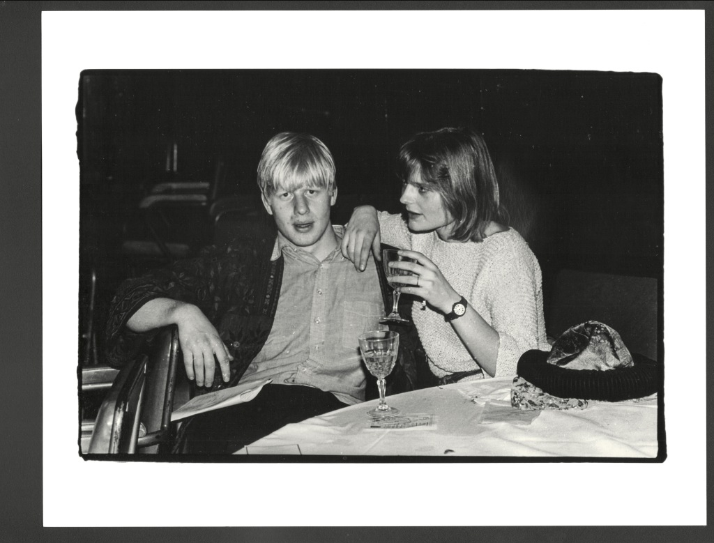 Boris Johnson and Allegra Mostyn-Owen, , sultans Ball, Oxford Town Hall, 10 March 1986.