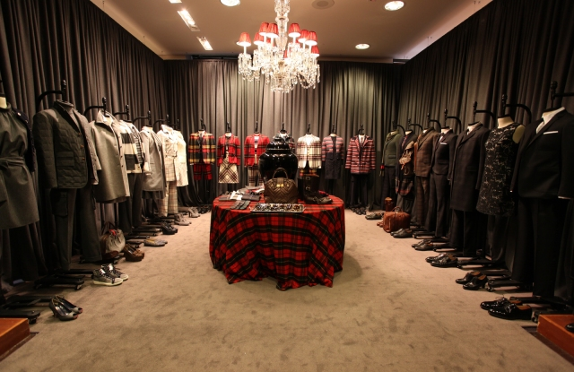 The Brooks Brothers fall 2012 presentation at the flagship store.