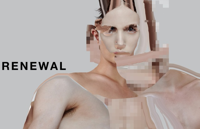 Visual image of London College of Fashion's digital graduate showcase.