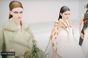 A natural beauty look from Guo Pei Couture 2020.