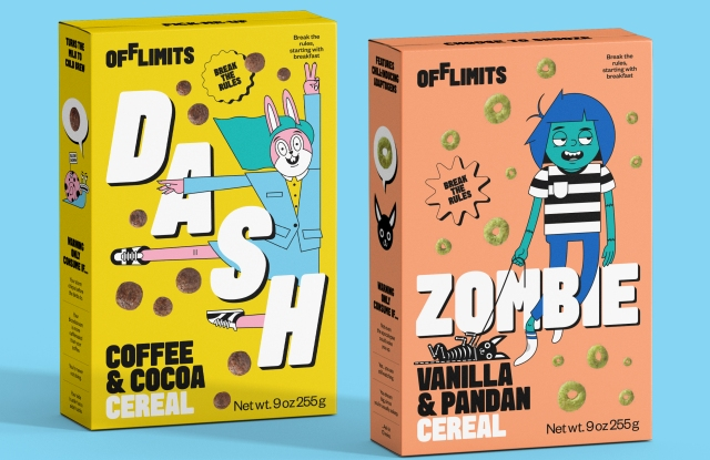 OffLimits cereal boxes.