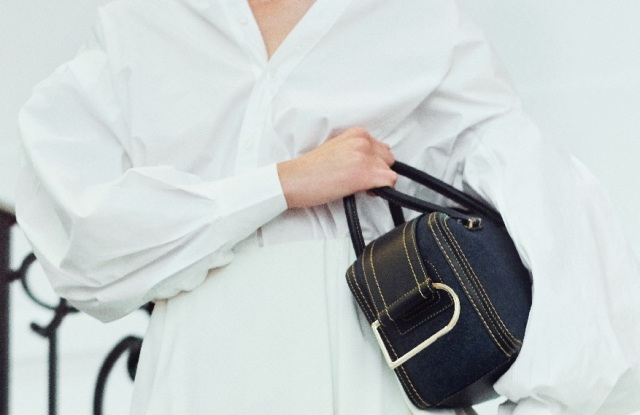 A design from Delvaux's denim collection.