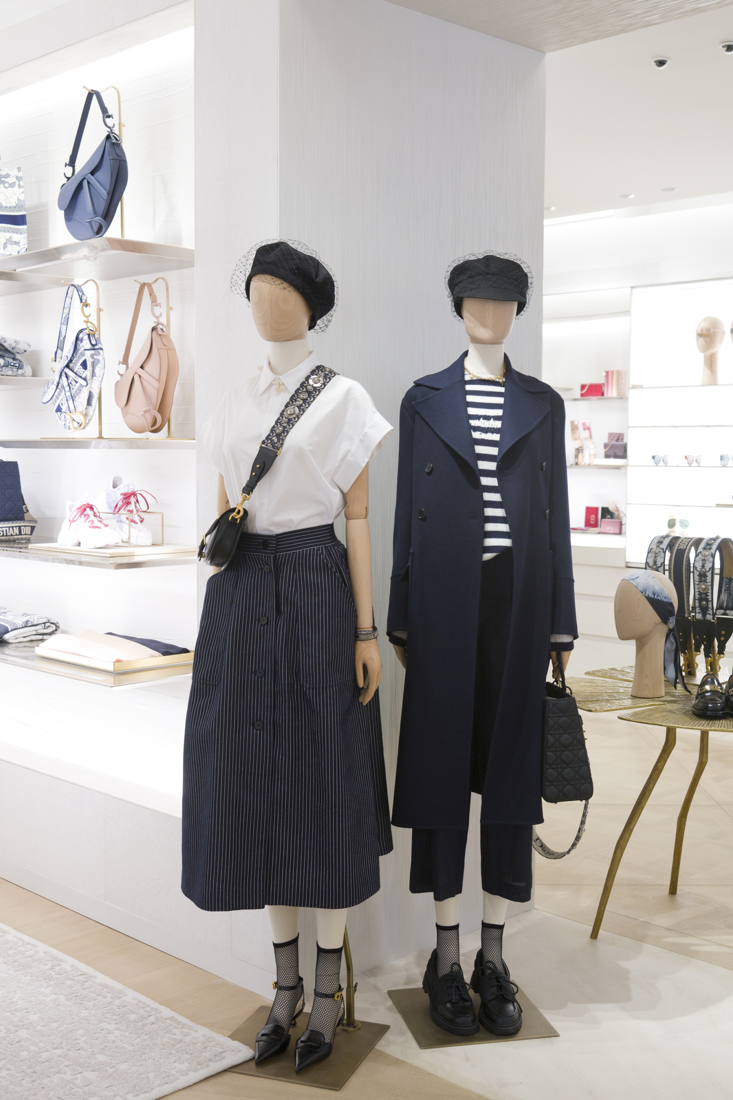 Mannequins in nautical styles greet shoppers on the main floor.