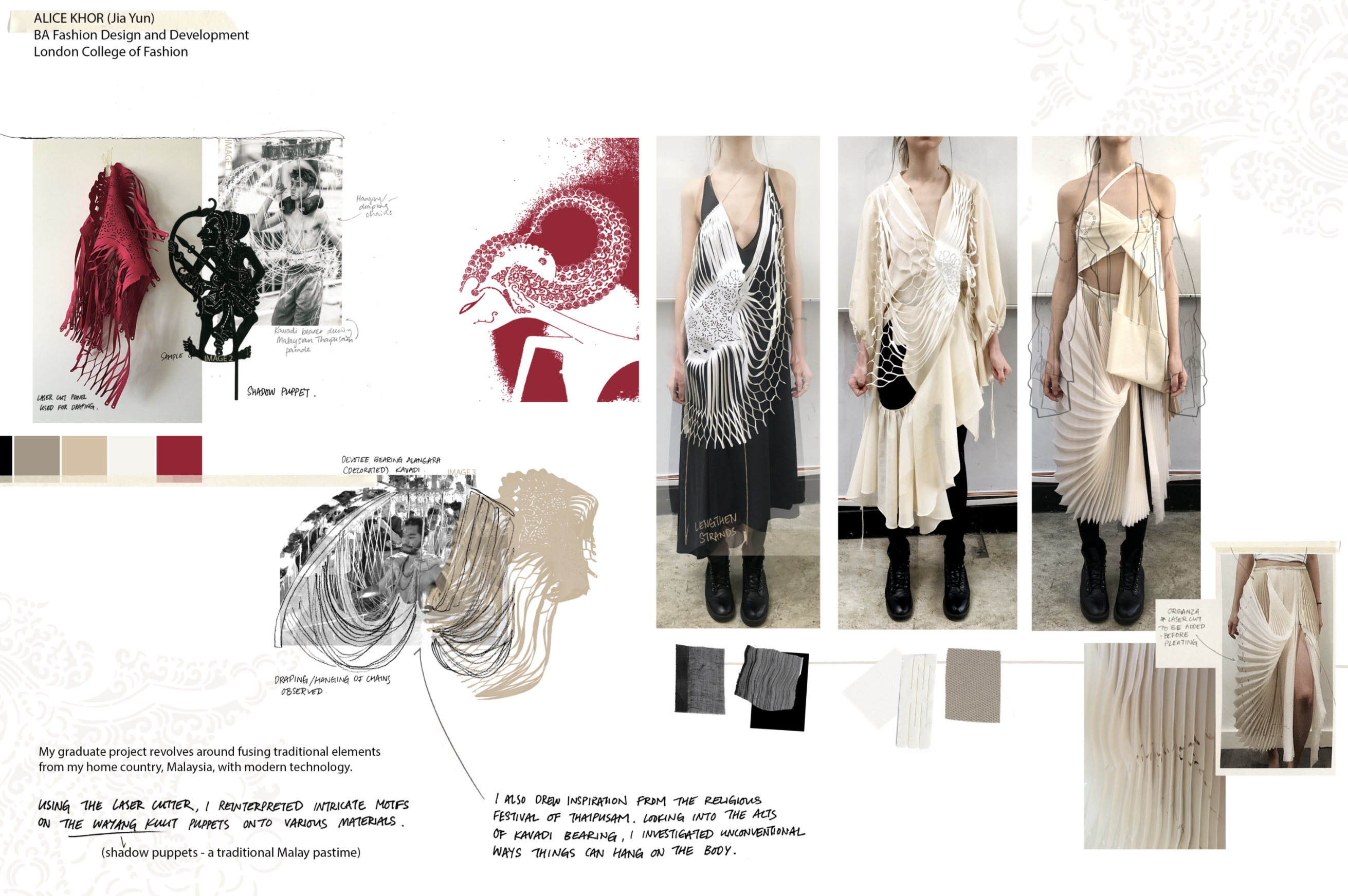 Graduate work of Alice Khor from the BA fashion design and development pathway at London College of Fashion