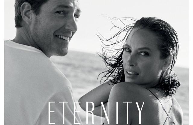Christy Turlington and Edward Burns for CK Eternity