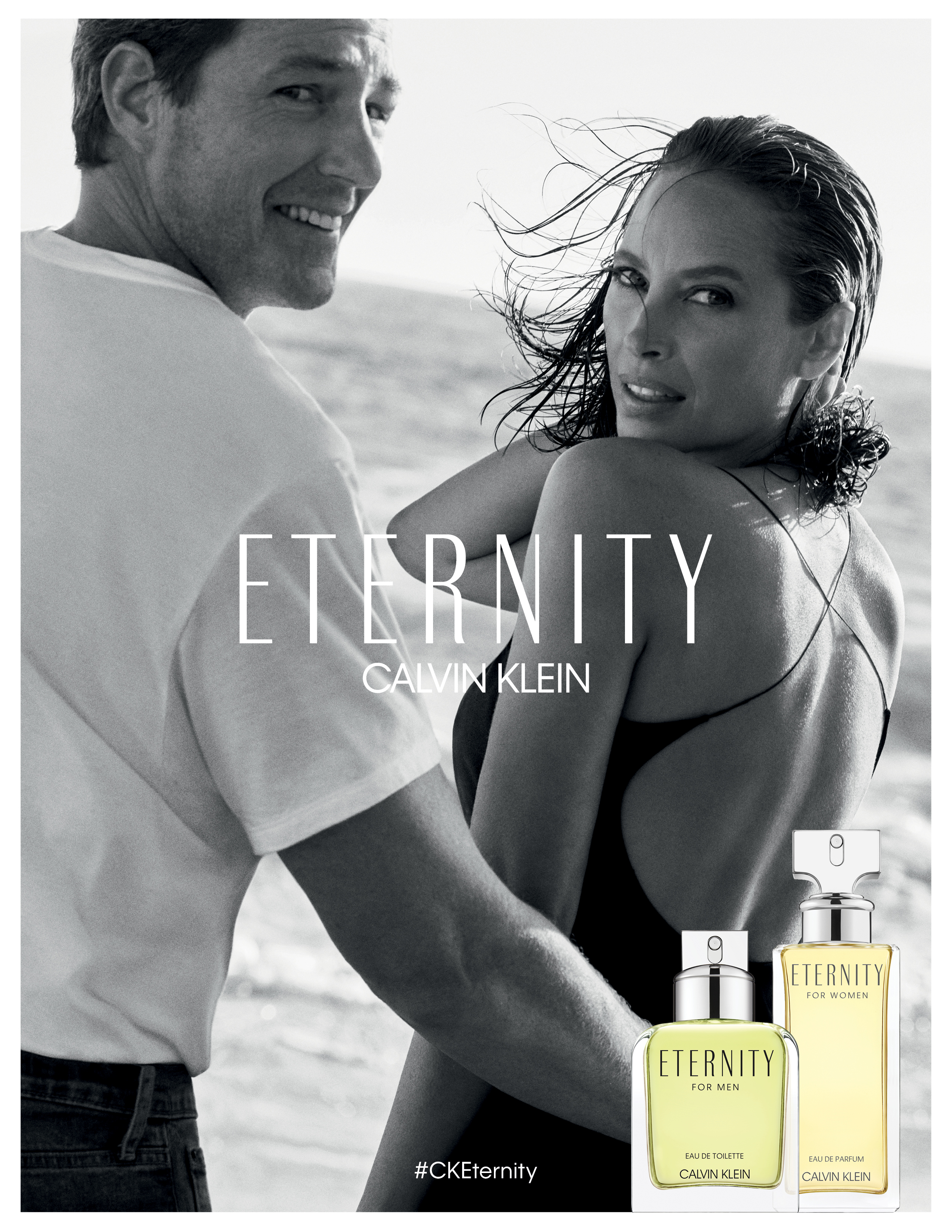 Christy Turlington and Edward Burns for CK Eternity