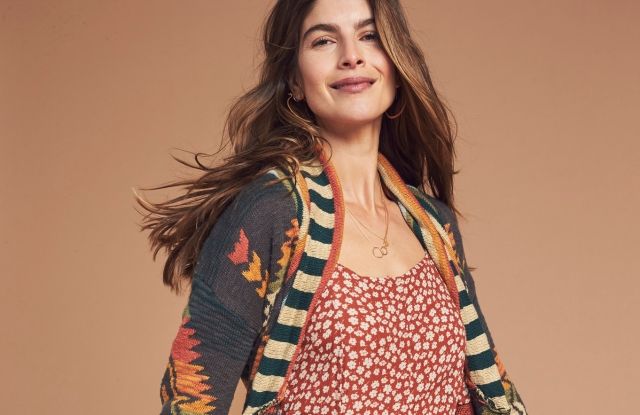 A women's look from Faherty.