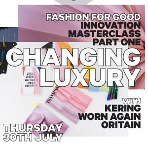 Fashion, fashion for good, sustainability, virtual summit, learning, executives