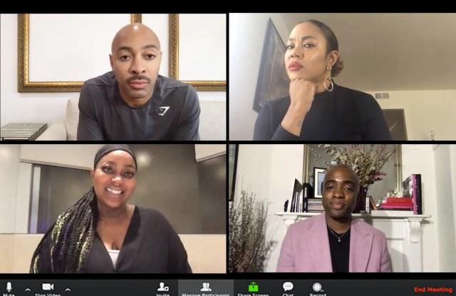 Sir John, Tasha Reiko Brown and Ashunta Sheriff-Kendricks in conversation with Zadrian Smith.