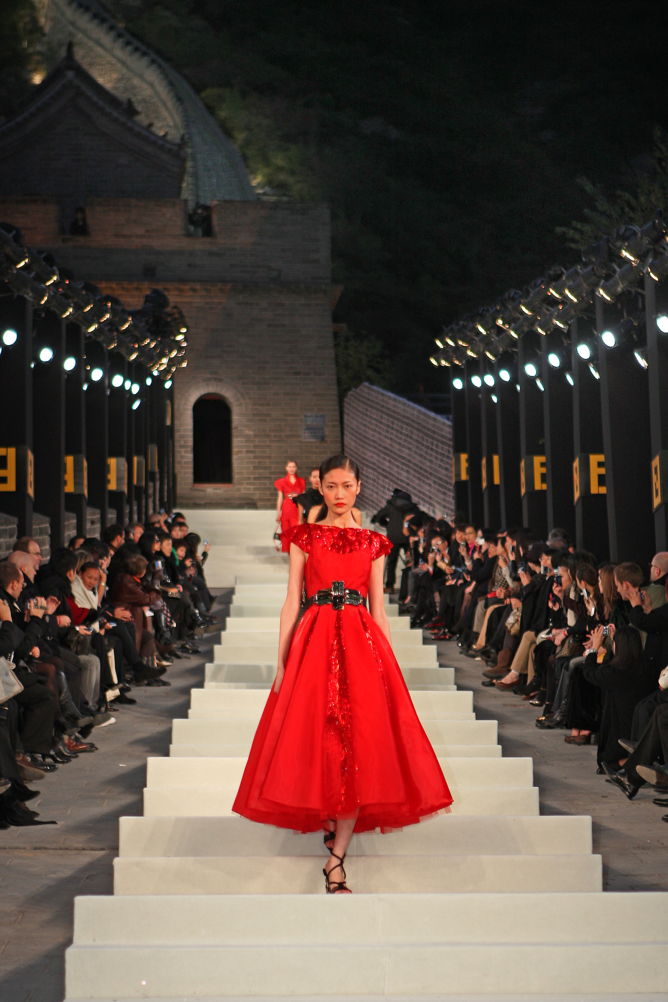 Fendi show on the Great Wall of China in 2007