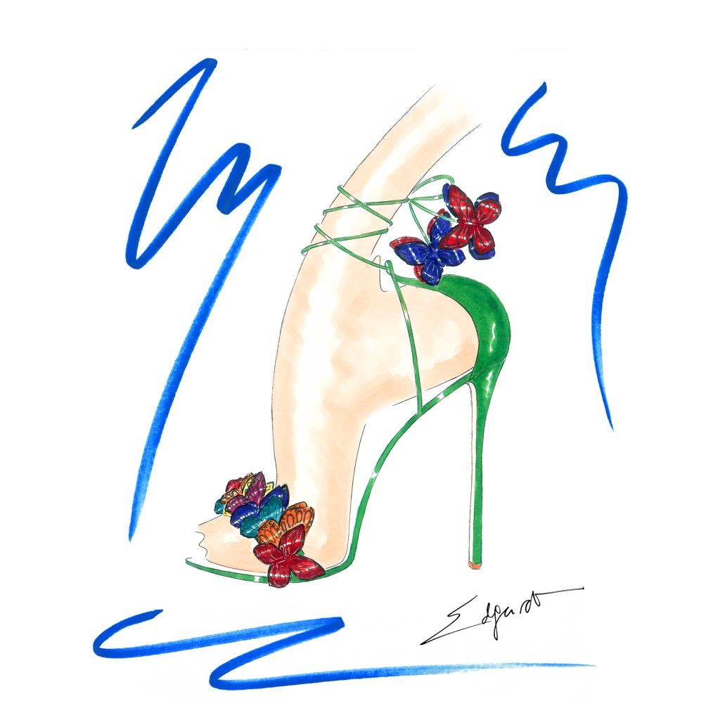 A style from Aquazzura's exclusive Capri collection