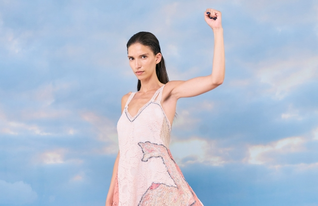 The Koché dress will be auctioned to raise funds for victims of domestic violence.