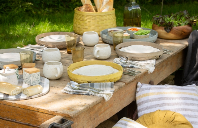An array of products from Longaberger