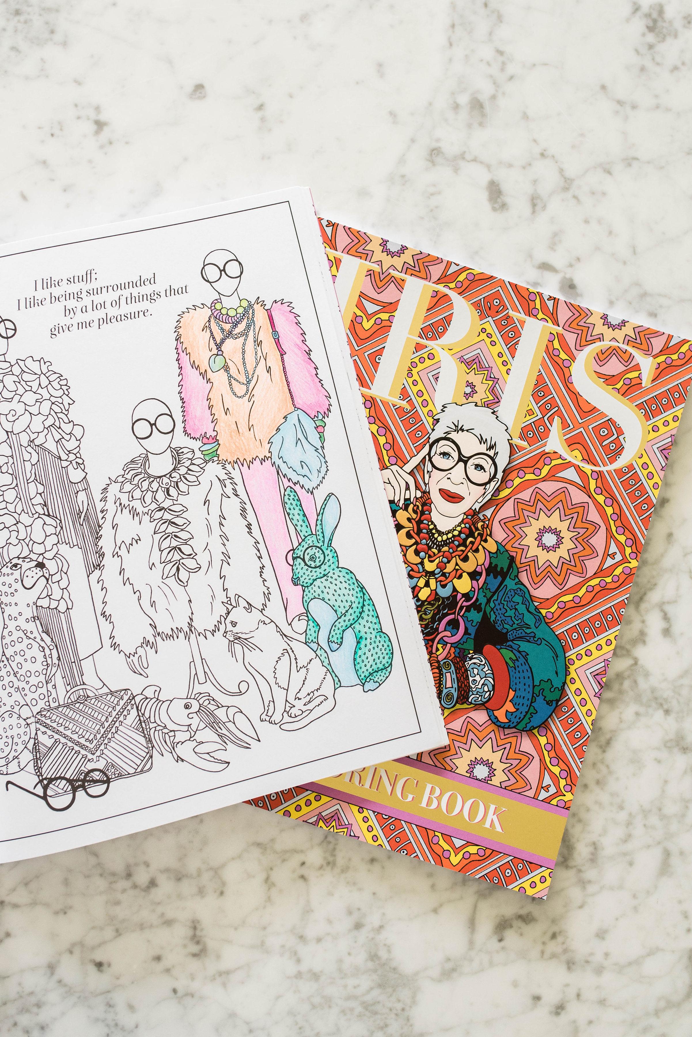 Iris Apfel Launches Autobiographical Coloring Book