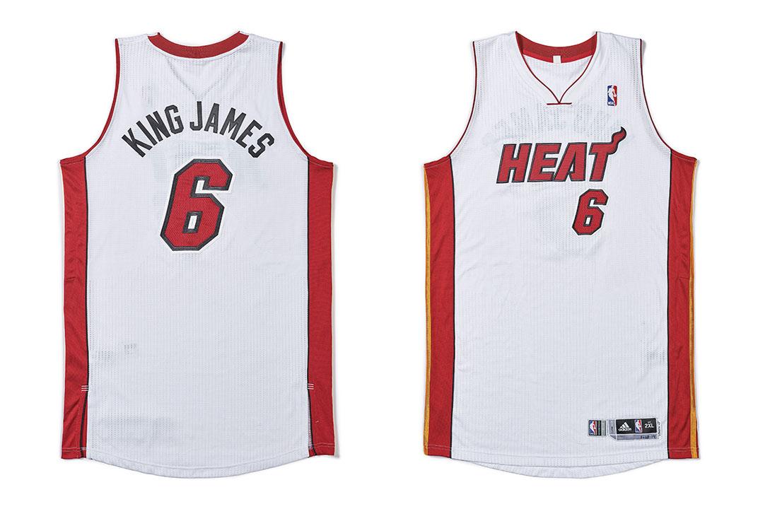 LeBron James 'King James' Miami Heat jersey