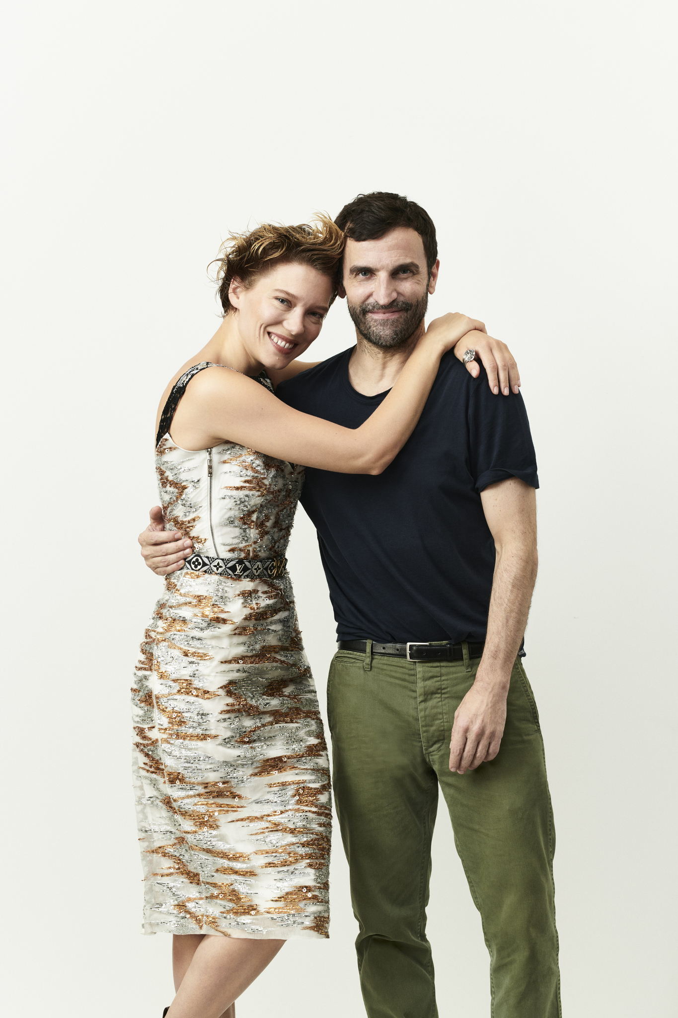 Léa Seydoux and Nicolas Ghesquière