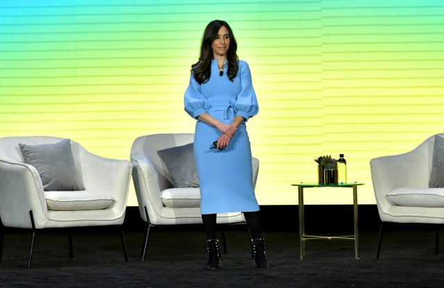 LOS ANGELES, CALIFORNIA - FEBRUARY 11: Chief Operating Officer of New York Times Meredith Kopit Levien speaks onstage during The 2020 MAKERS Conference on February 11, 2020 in Los Angeles, California. (Photo by Emma McIntyre/Getty Images for MAKERS)