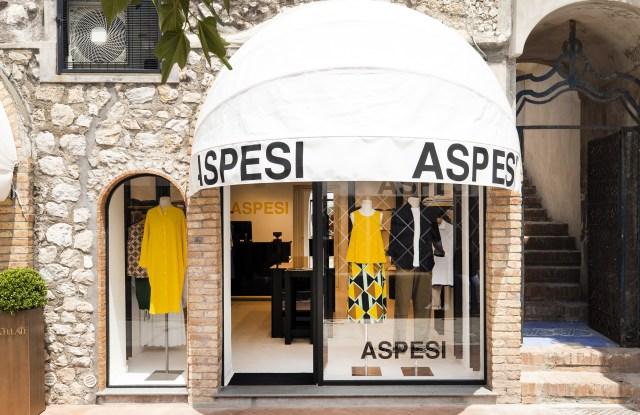 The new Aspesi store in Capri