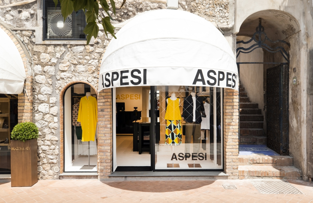 The new Aspesi store in Capri