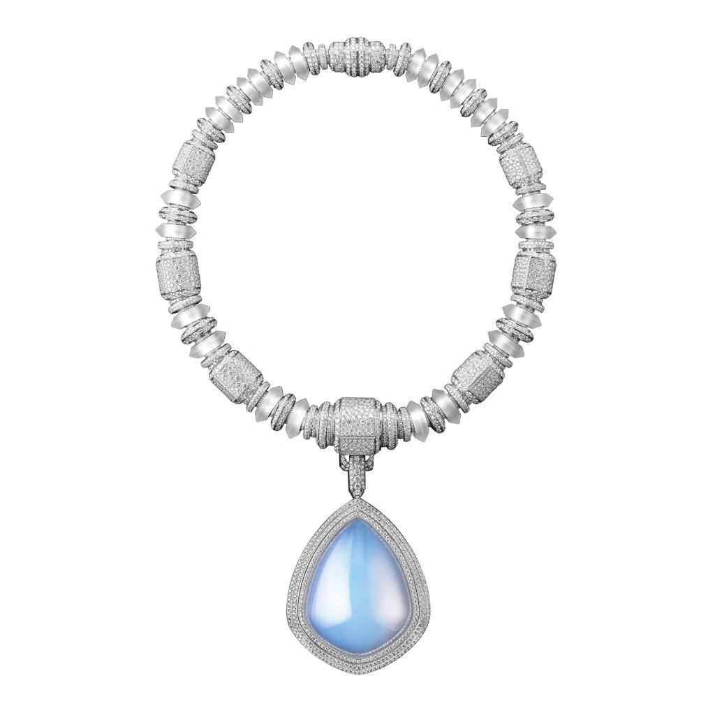 Boucheron Goutte de Ciel aerogel diamonds rock crystal.