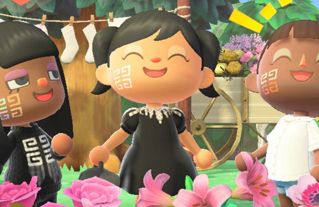 Animal Crossing avatars wearing Givenchy makeup