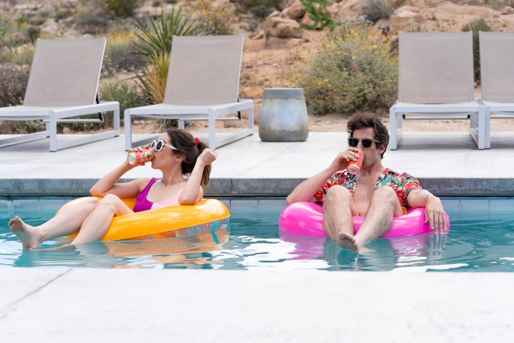 """A still from """"Palm Springs."""""""