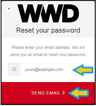 Reset password dialog