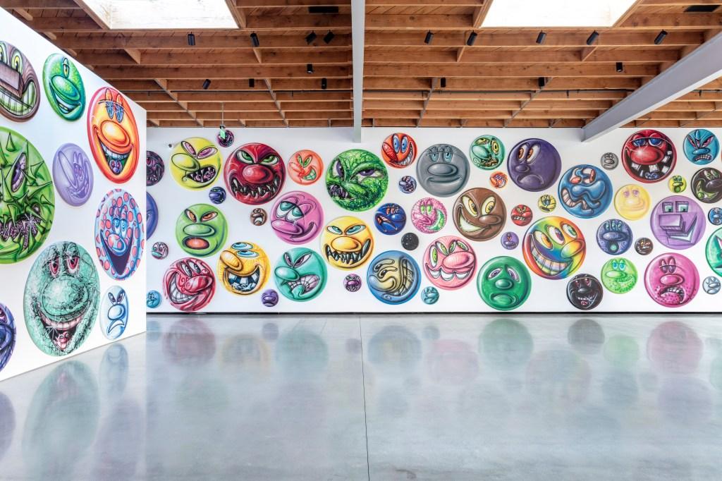 Installation view, Kenny Scharf: Moodz, Jeffrey Deitch, Los Angeles, 2020 Photo by Joshua White (@joshuawhitephotography on social media)