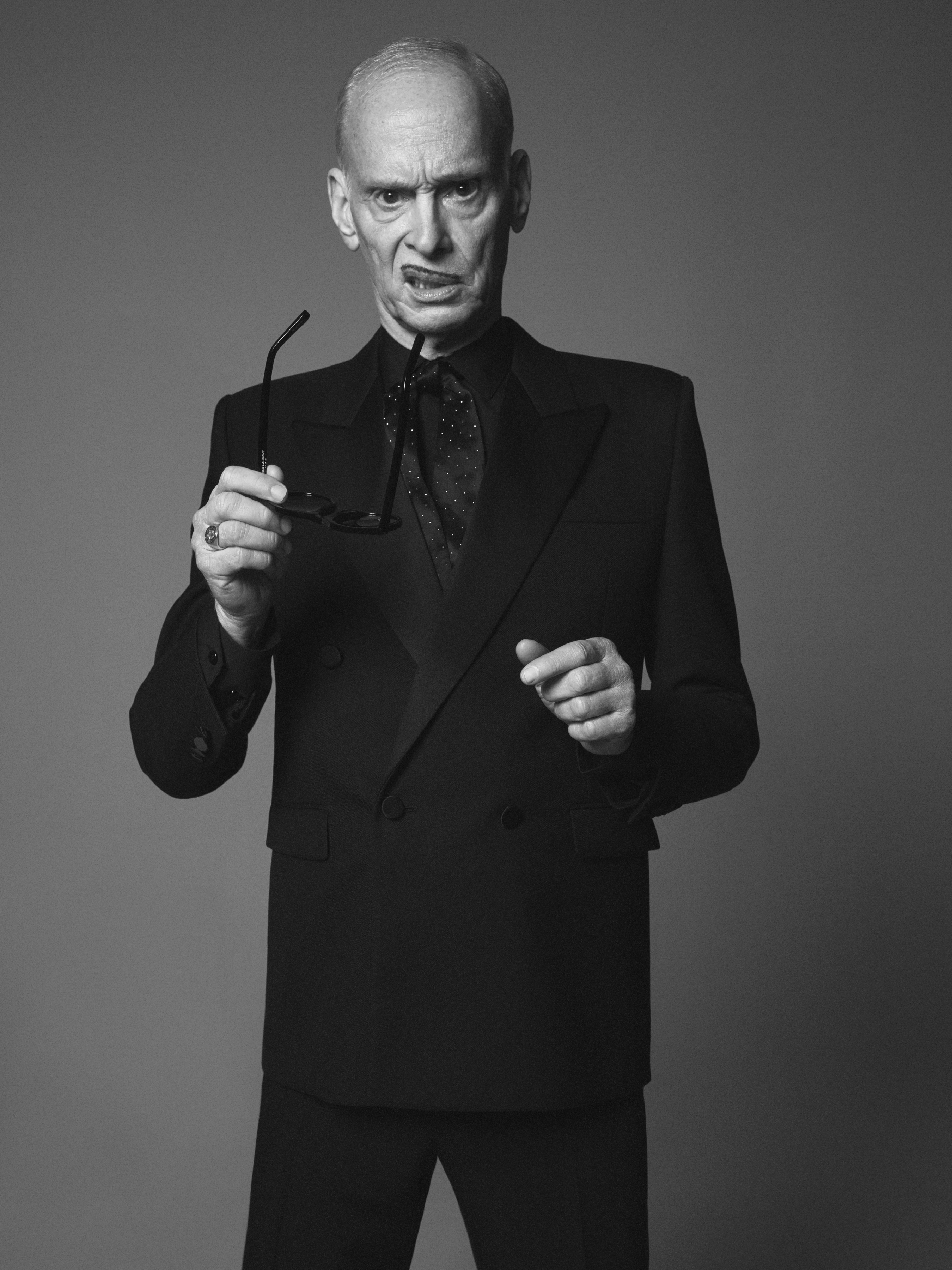 John Waters in the Saint Laurent campaign.