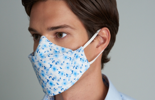 A fashion face mask from Samuelsohn.