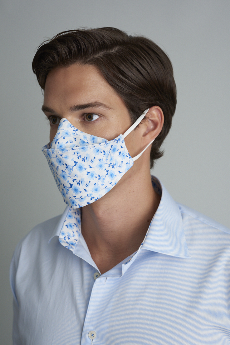 A fashion face mask from Samuelsohn.