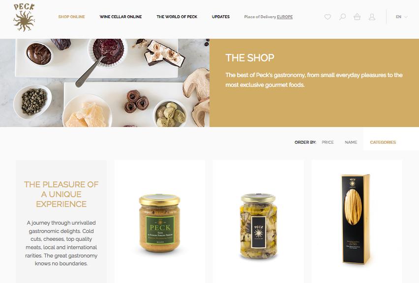 Peck's online store.