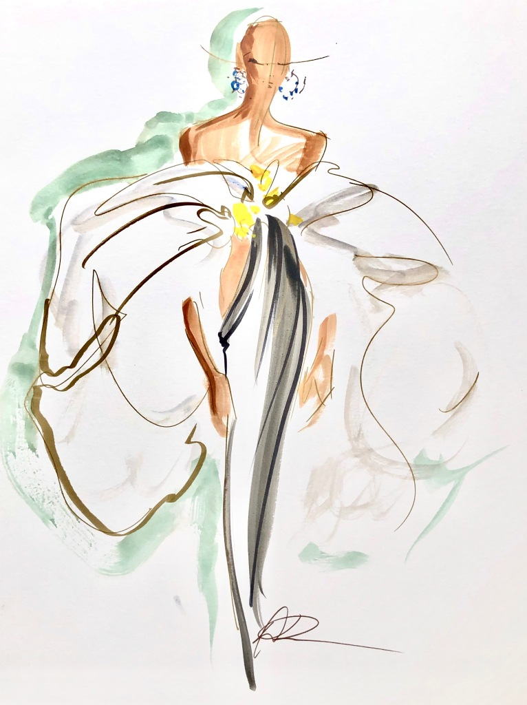 A new design made by Daniel Roseberry for Schiaparelli during lockdown.