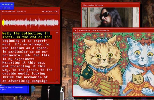 "A screenshot from the Gucci ""Epilogue"" video."